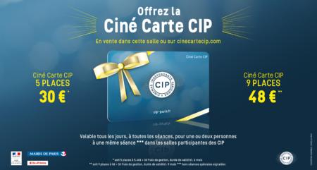 La Ciné Carte CIP disponible dans votre salle !